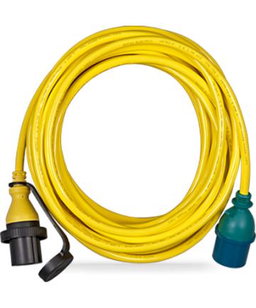 Adapter Cord 32A/3 to single ph.-CEE Plug 5P/CEE Coupling 3P