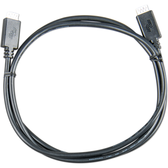VE.Direct Cable 10m (one side Right Angle conn)